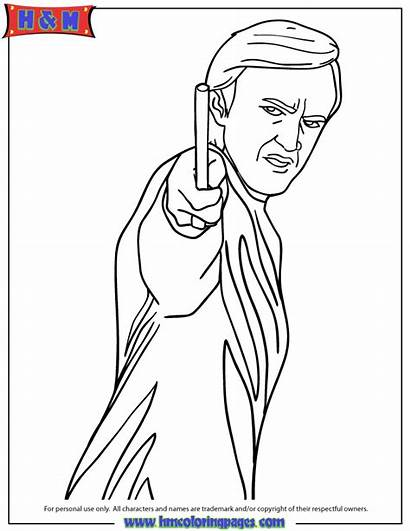 Draco Potter Malfoy Harry Coloring Pages Phoenix