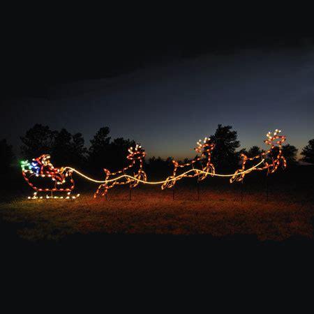santa sleigh reindeer  led light display