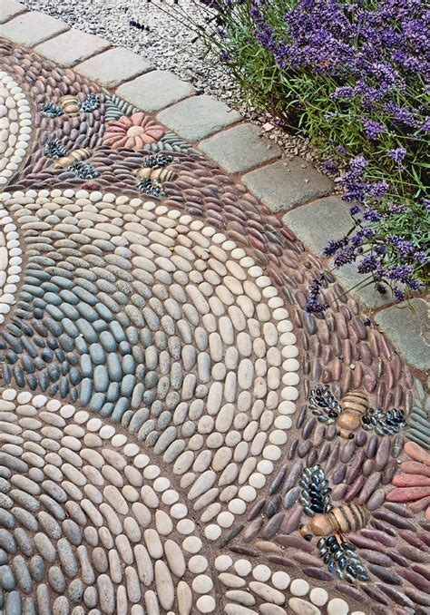 pebble tile mosaics how to make pebble mosaic and stepping stones for