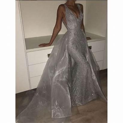 Dresses Prom Mermaid Neck Luulla Tulle Evening