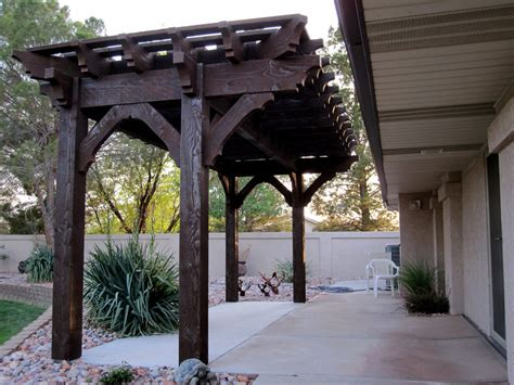 Solid Wood Patio Cover Kits by Backyard Deck Pergola Lattice Fullwrap Cantilever Roof