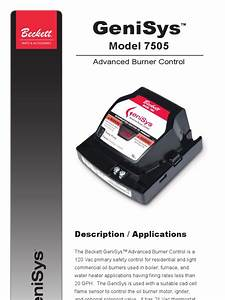 Beckett Model 7505 Wiring Diagram Beckett Burner Manuals