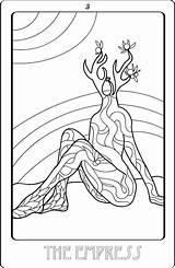 Coloring Sheets Tarot Credit sketch template