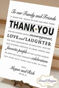 wedding the guest and receptions on pinterest With wedding thank you letter
