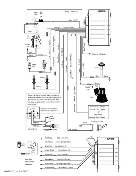 clifford car alarm wiring diagram diagram auto wiring