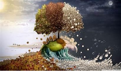 4k Seasons Surreal Ultra Wallpapers Desktop