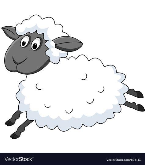Cute sheep cartoon Royalty Free Vector Image - VectorStock