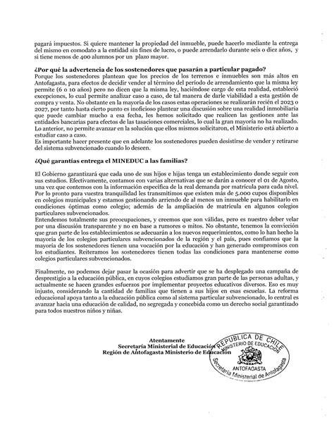 Carta Abierta A Los Apoderados De Colegios Subvencionados