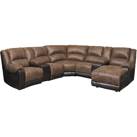 raf chaise sectional nantahala coffee 7 reclining sectional with raf
