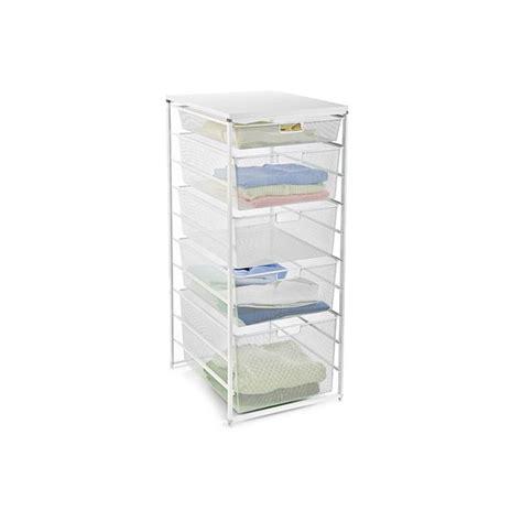 white elfa mesh dresser the container store