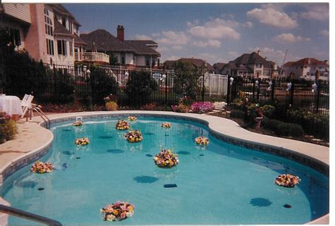 pool decorations dln floral photo albums