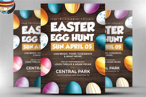 easter flyer template easter egg hunt flyer template flyer templates on creative market
