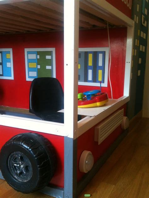 Bedroom: Fire Truck Bunk Bed For Inspiring Unique Bed