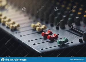 Sound Audio Analog Of Radio Soundboard Board Stock Image