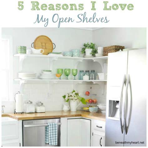 kitchen cabinets open shelving 5 reasons i my kitchen open shelves beneath my 6281