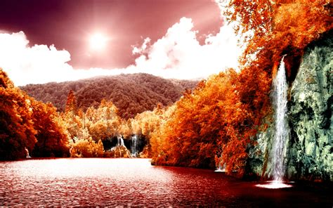 Hd Autumn Background by Hd Autumn Orange Hd Wallpapers Hd Wallpapers