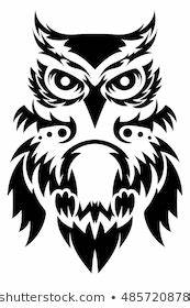 Poly Tribal Designs Owl Images Stock Photos Vectors Shutterstock