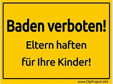 Baden verboten Schild
