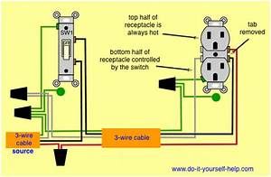 Convert Full Switched Receptacle To Half Switched