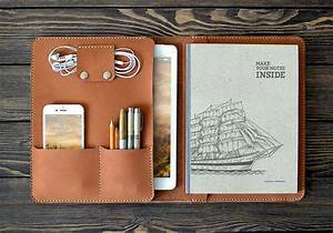 The Handmade Ipad Pro Leather Case Holds Your 9 7 U0026quot  Ipad