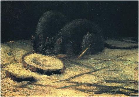 rats  vincent van gogh  painting oil  panel