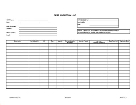 inventory tracking spreadsheet template  excelxocom