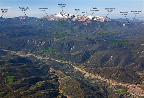 the front range aerial view