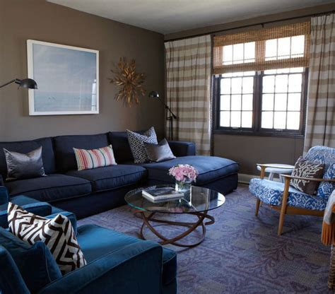 Feeling The Blues  33 Modern Living Room Design Ideas