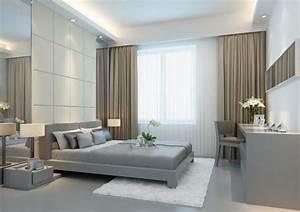 Vorhänge Wohnzimmer Grau : modernes schlafzimmer grau braun wei e gardinen braune vorh nge bowie modern apt pinterest ~ Sanjose-hotels-ca.com Haus und Dekorationen