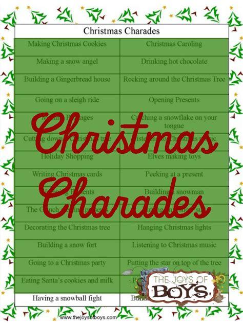 christmas charades the joys of boys
