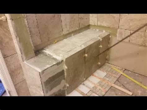 Putting In A Shower Pan by Clip Hay Tile Shower Bench Installation How To
