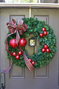 Easy, Diy, Christmas, Wreath, With, Lantern