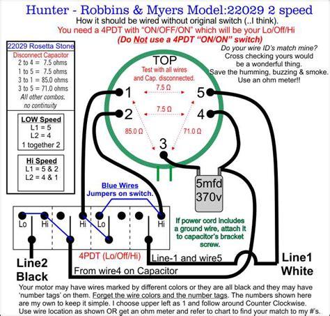 hunter robbins myers floor fan model 22029 wiring