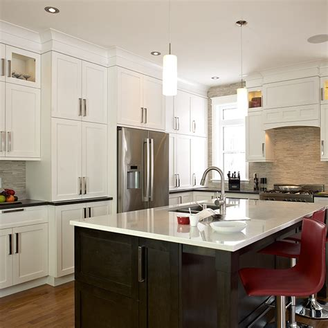 cuisine brun et blanc fabricant de cuisines cuisines beauregard