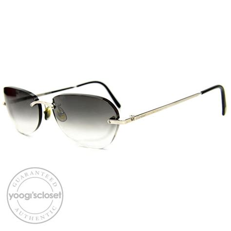 Sell My Closet by Cartier Dark Grey Gradient Lenses Rimless Frame Sunglasses