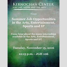 Summer Job Opportunities In The Arts, Entertainment