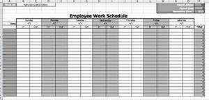 Free employee monthly work schedule template calendar for Multiple employee schedule template