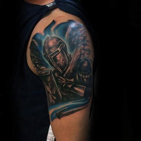 thin blue  tattoo designs  men symbolic ink ideas
