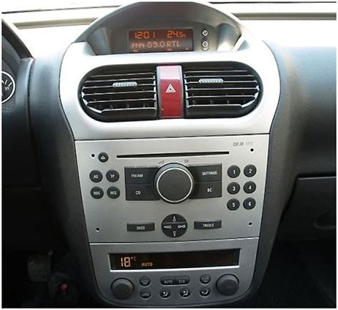 opel corsa radio opel corsa c 2 din radio einbauset hellsilber