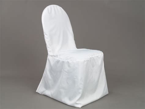 Chair Cover White (rd Back)