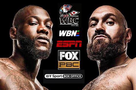 Deontay Wilder vs Tyson Fury Fight