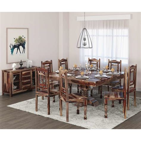 florida handcrafted exquisite solid wood  piece dining