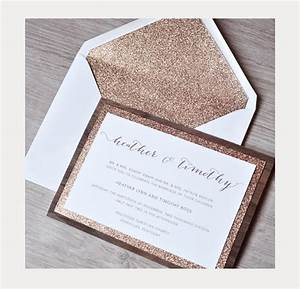 unique wedding invitations by engaging papers With glitter wedding invitations canada