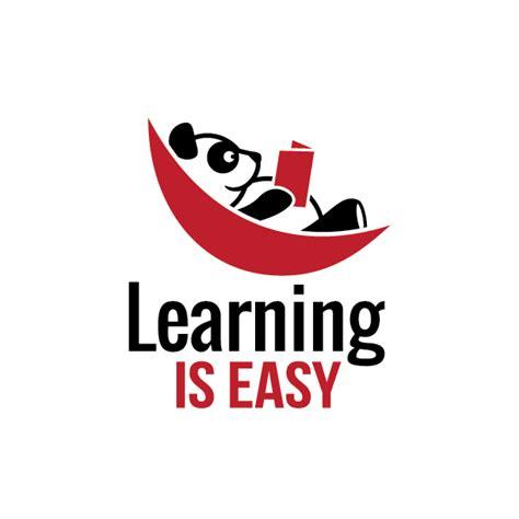 learning  easypanda bear logo design logo cowboy
