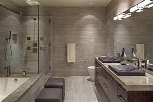 image salle de bain l39ambiance naturelle sinvite dans la With carrelage imitation bois salle de bain