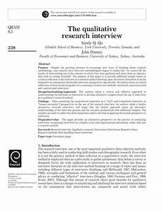 pdf the qualitative research interview With qualitative research interview protocol template