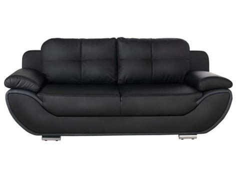 conforama canaper canapé fixe convertible 3 places pacora coloris noir gris