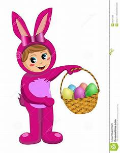 Kid Girl Wearing Bunny Costume Royalty Free Stock Images ...