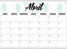 Abril 2018 calendario 4 2019 2018 Calendar Printable