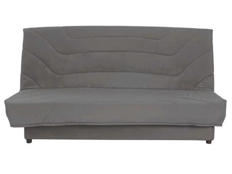 chambre conforama ado banquette clic clac en tissu coloris gris vente de